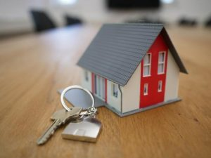 mini house with keys